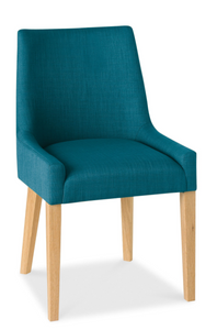 Ella Upholstered Dining Chair - Natural Legs