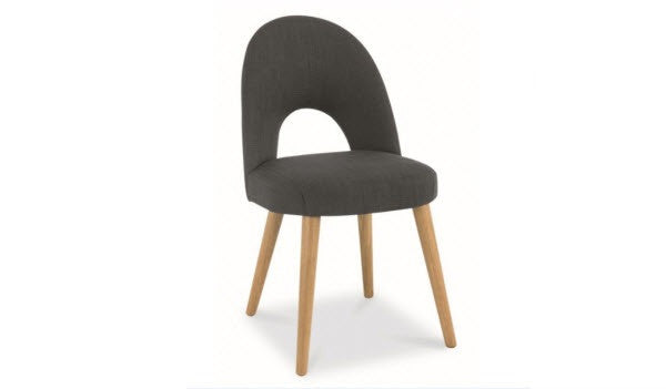Stockholm grey upholstered dining chair