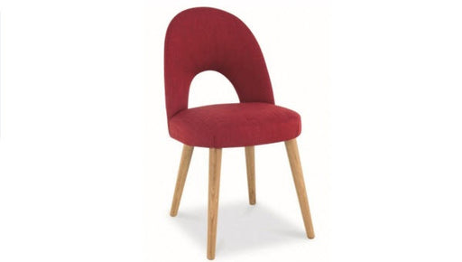 Stockholm red upholstered dining chair