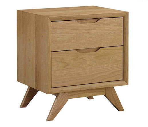Milano 2 drawer bedside table
