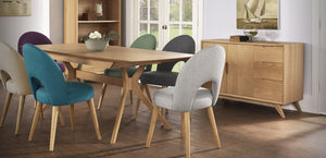 Milano extension Dining Setting / Stockholm upholstered chairs