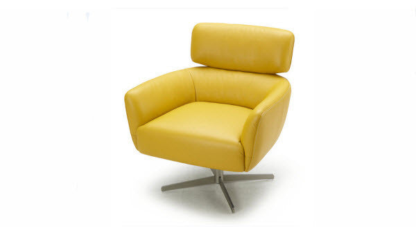 Milo Leather Swivel Chair