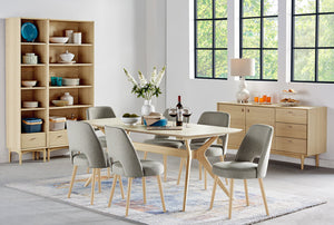Riga 7 Piece Dining Suite pedestal base table