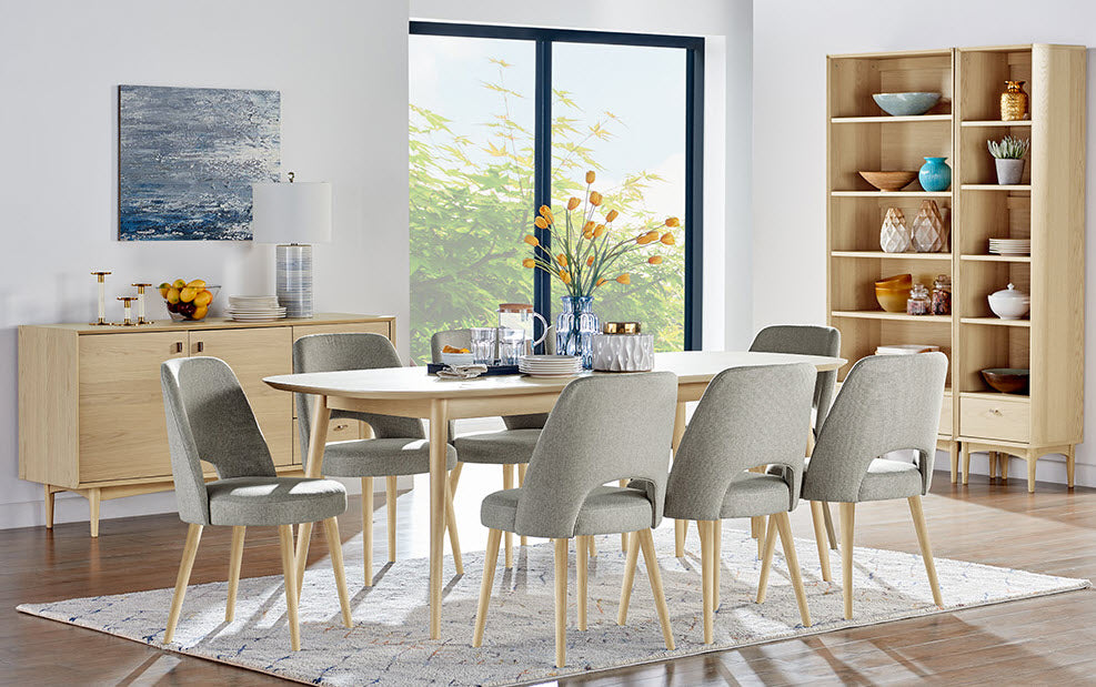 Riga 9 Piece Dining Setting ( extension table ) / Coro chairs