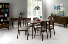 Load image into Gallery viewer, Stockholm 7 piece dining setting walnut