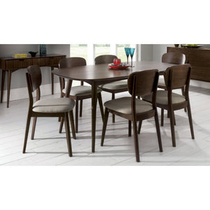 Stockholm 7 piece dining setting walnut