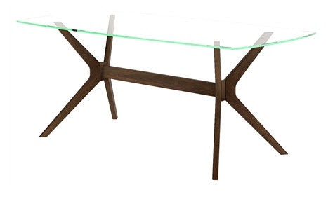 Trieste glass top dining table