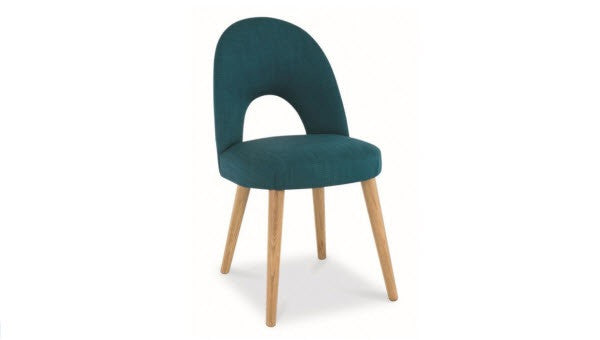 Stockholm teal upholstered dining chair