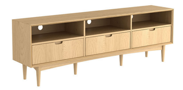 Stockholm entertainment unit oak 180cm