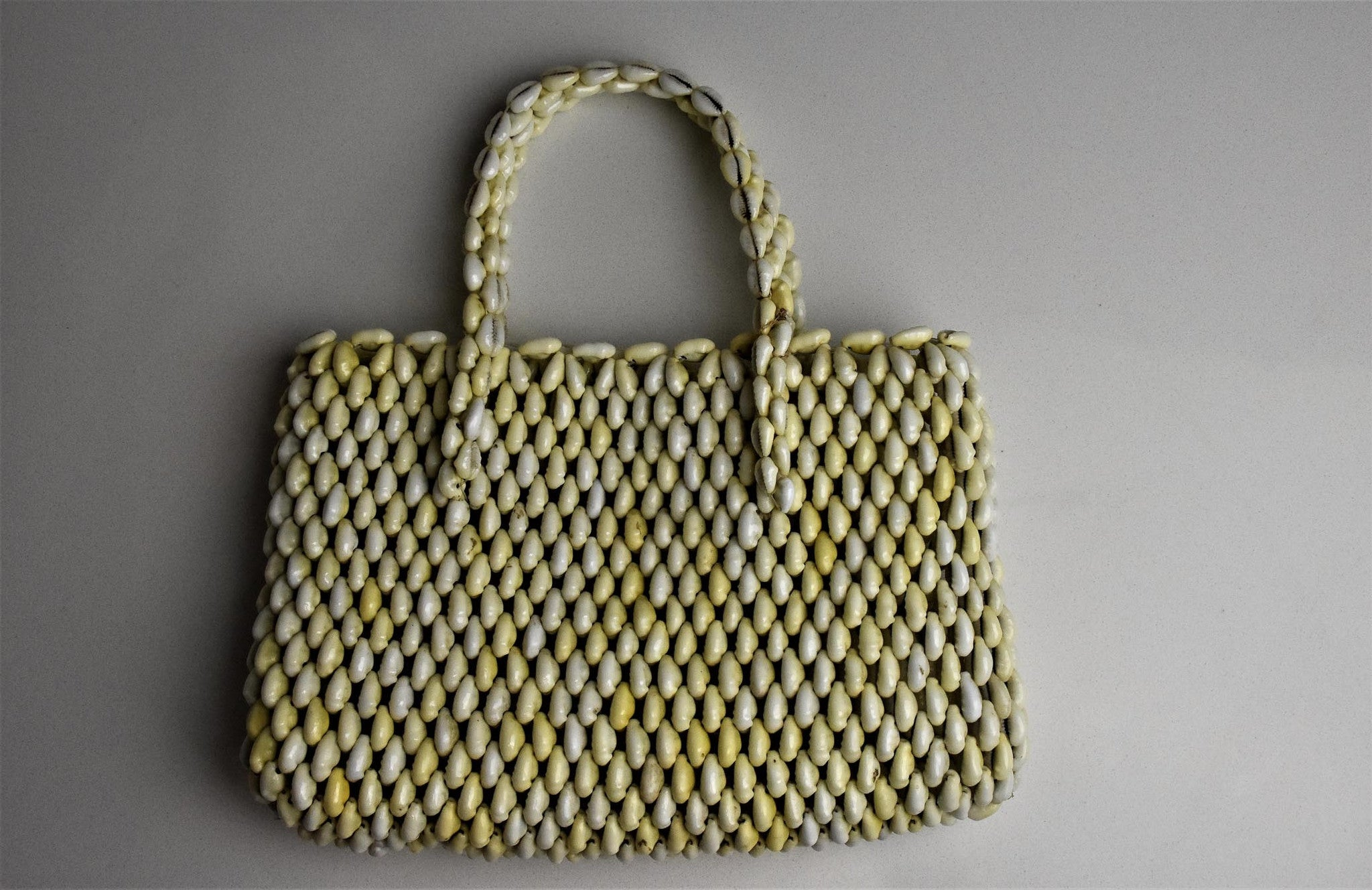 1960's cowrie shell bag