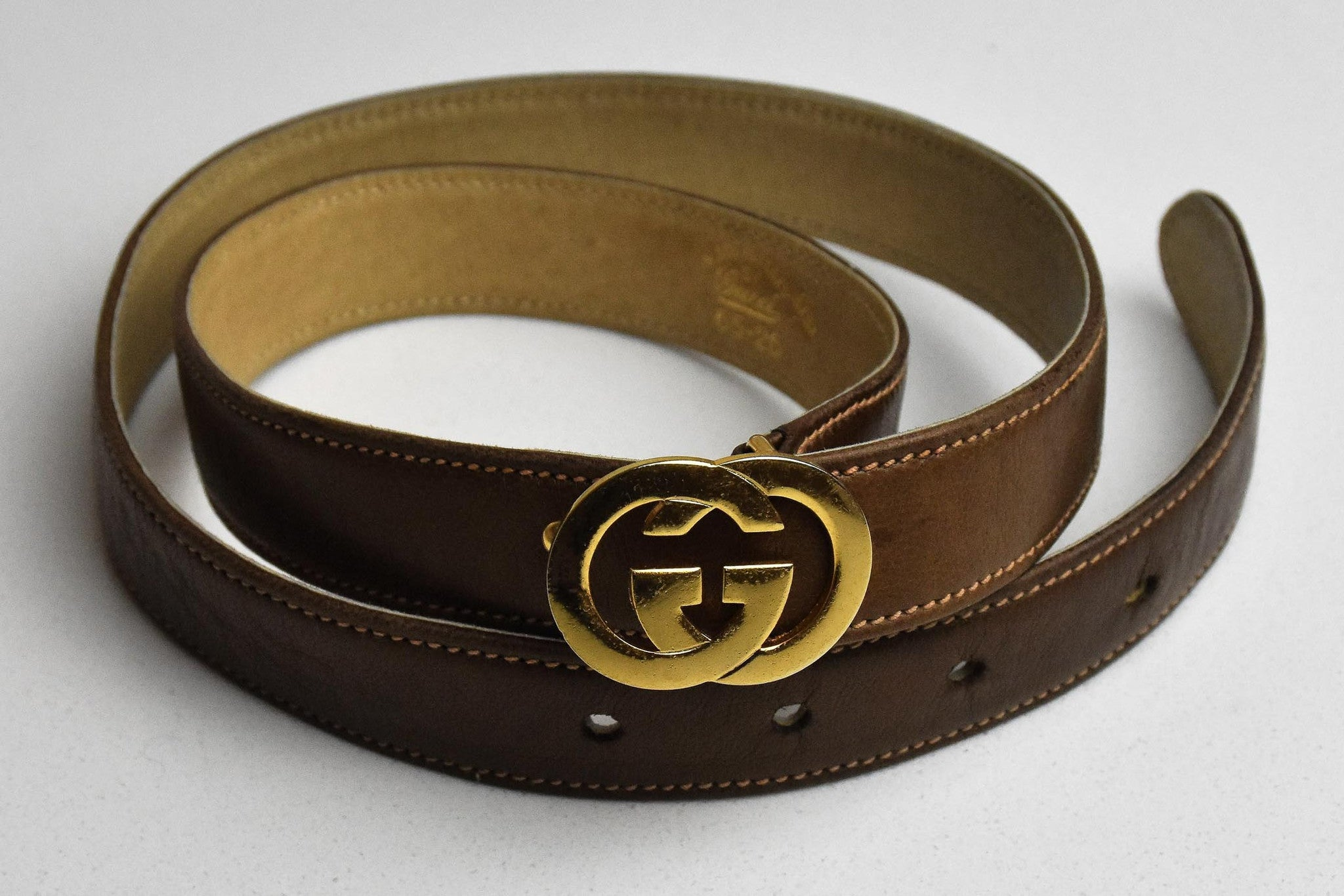 1970s Gucci leather belt