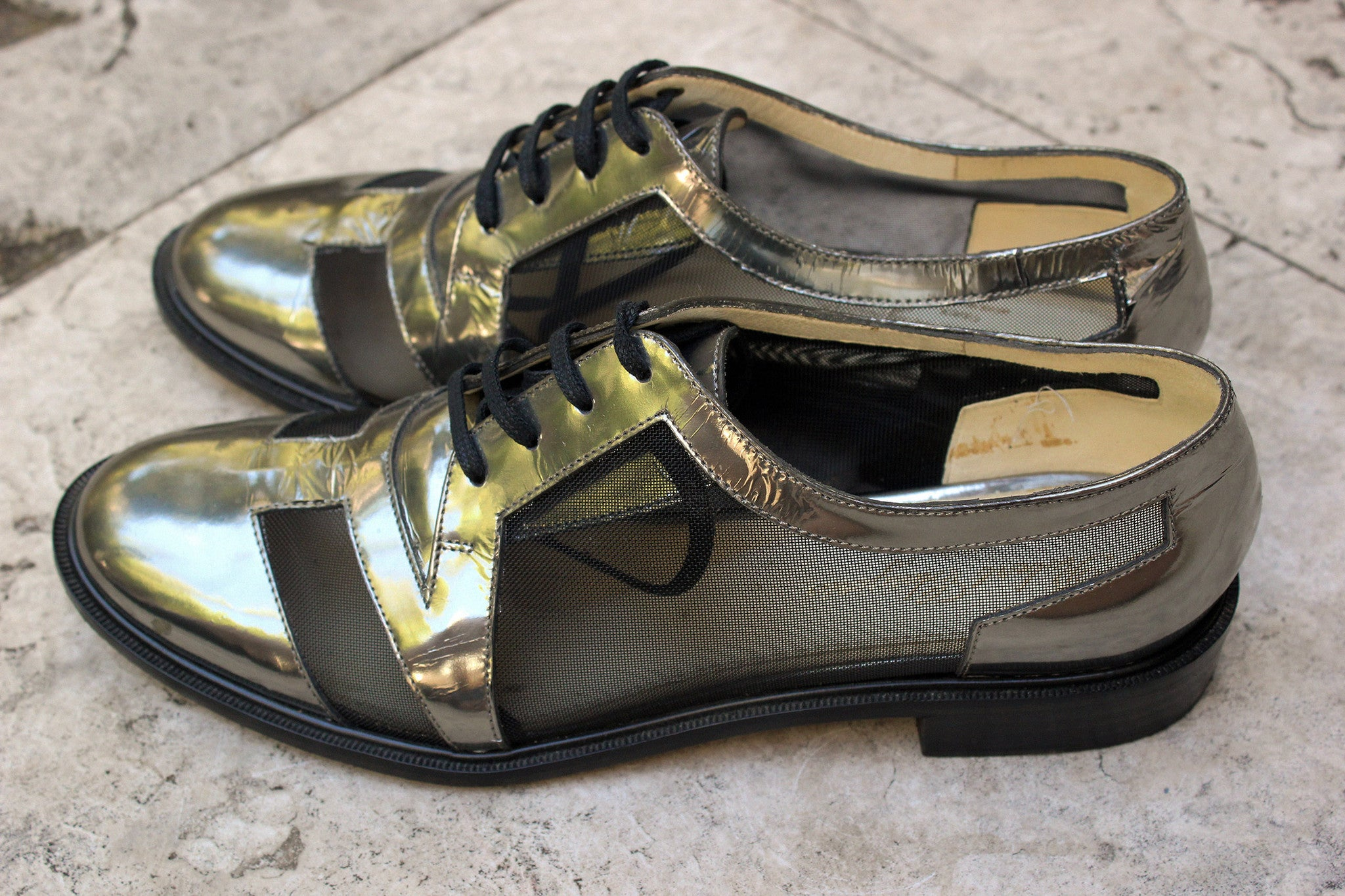 Vintage Robert Clergerie Metallic Lace-Ups