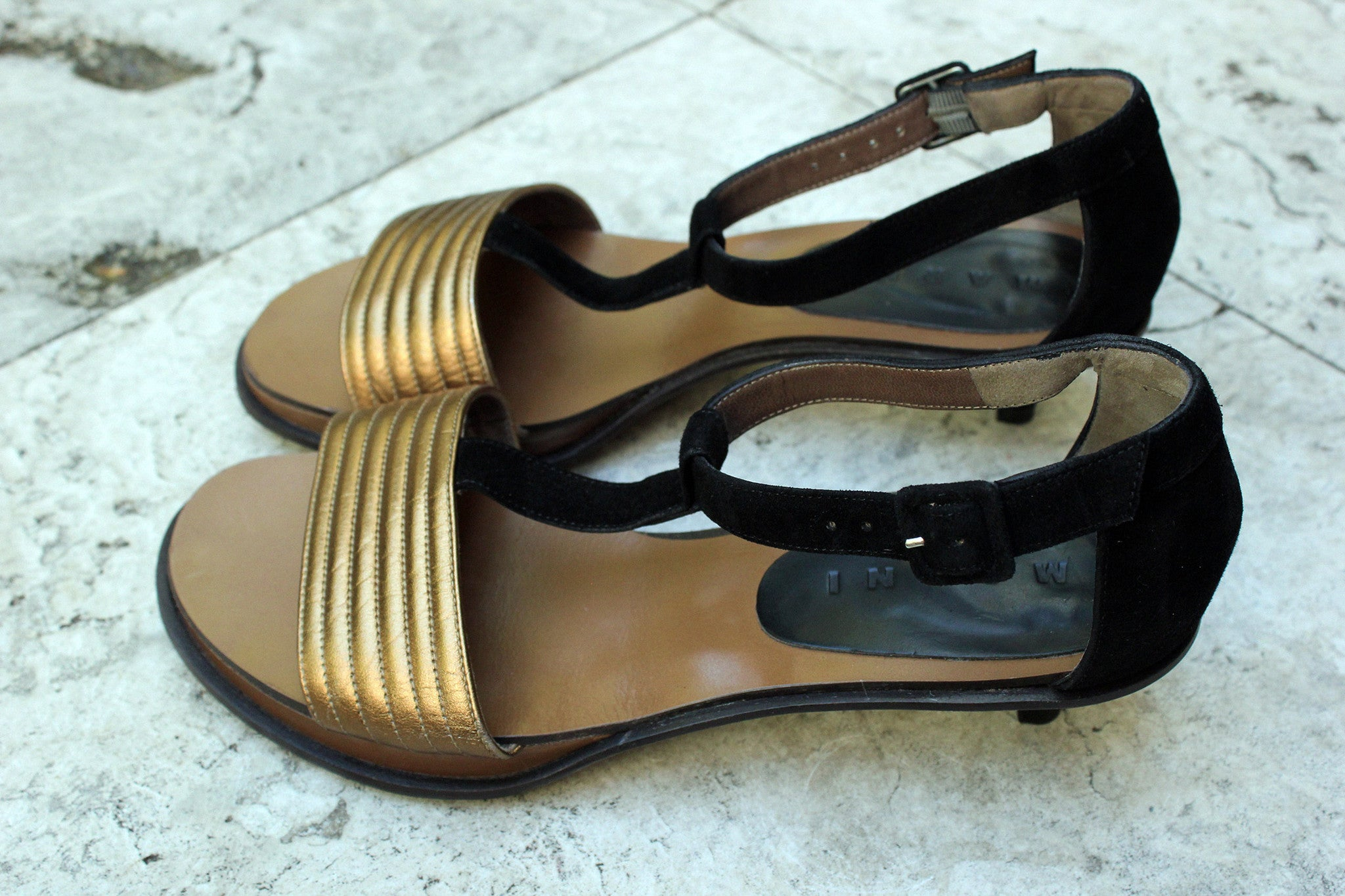 Vintage Marni Metallic Sandals