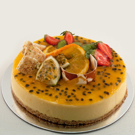 Lemon Passionfruit Baked Cheesecake