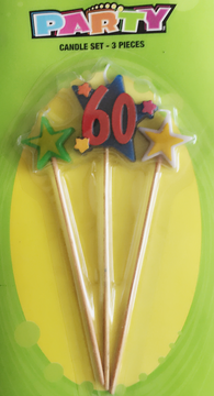 3 Pc. Party Candle - 60