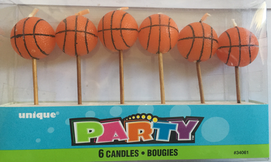 Pack of 6 Basketball Candles