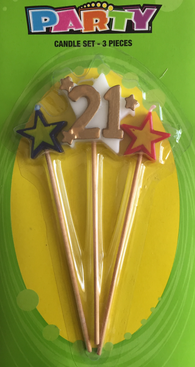 3 Pc. Party Candle - 21