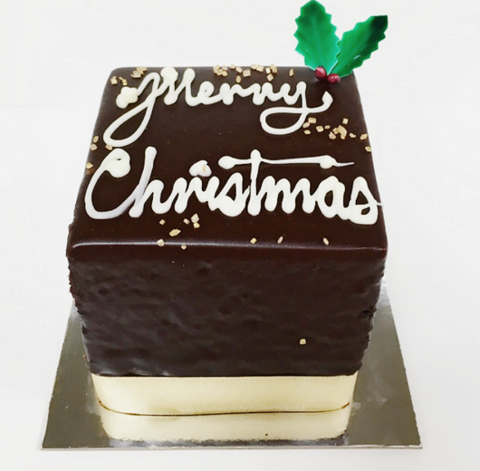 Merry Christmas Mini Jamaican Chocolate Mud Cake