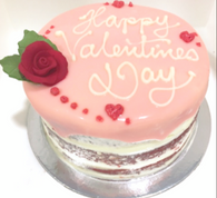 Couple's Valentine Glazed Red Velvet