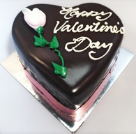 Valentine Mini Heart Jamaican Chocolate Mud Cake
