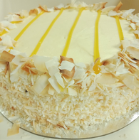 Flourless Lemon Coconut Cake
