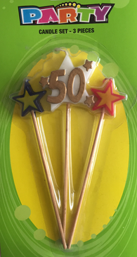 3 Pc. Party Candle - 50