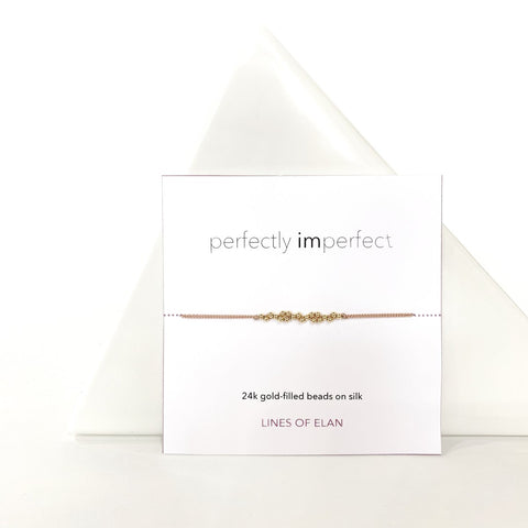 PERFECTLY IMPERFECT Bracelet, Gold + Silk