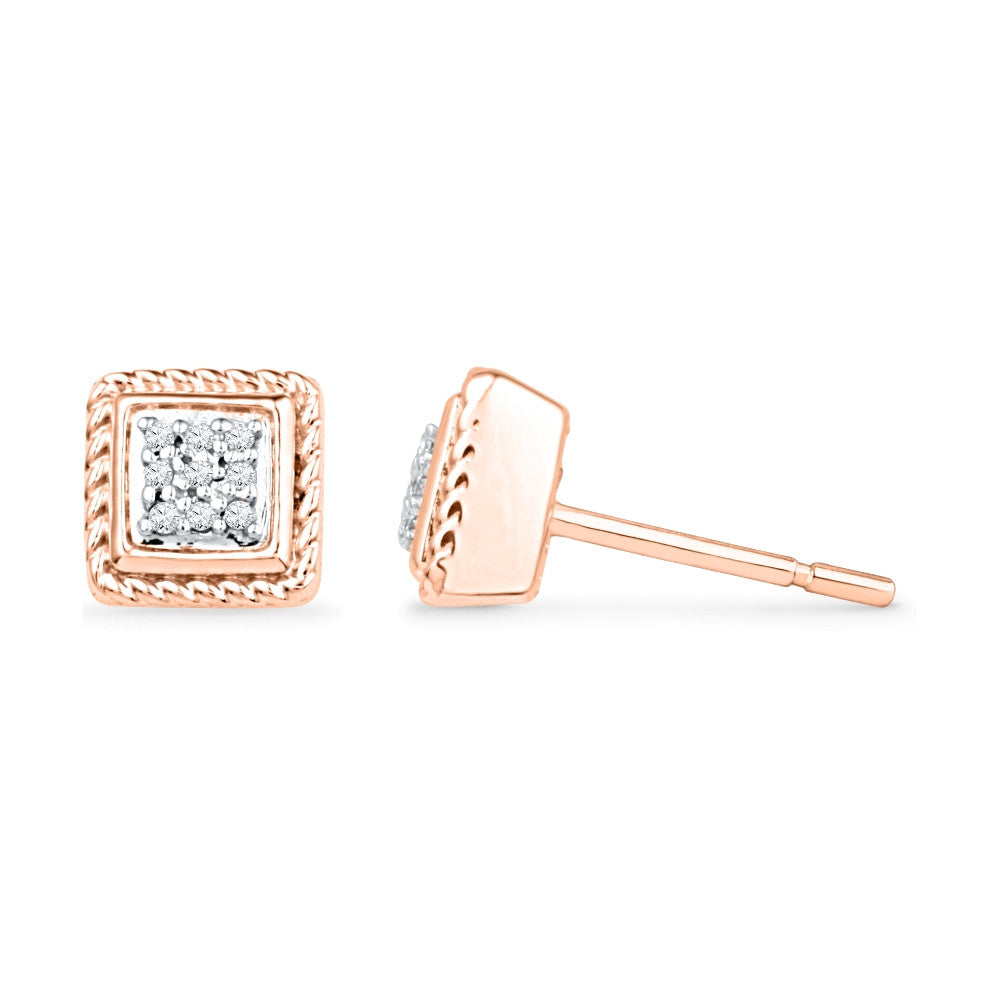 earrings square of stud buy alena large tone picture shaped diamond american