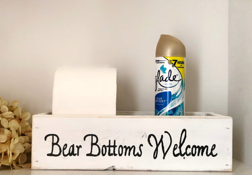 Bear Bottoms Welcome Toilet Box - stacys-country-designs