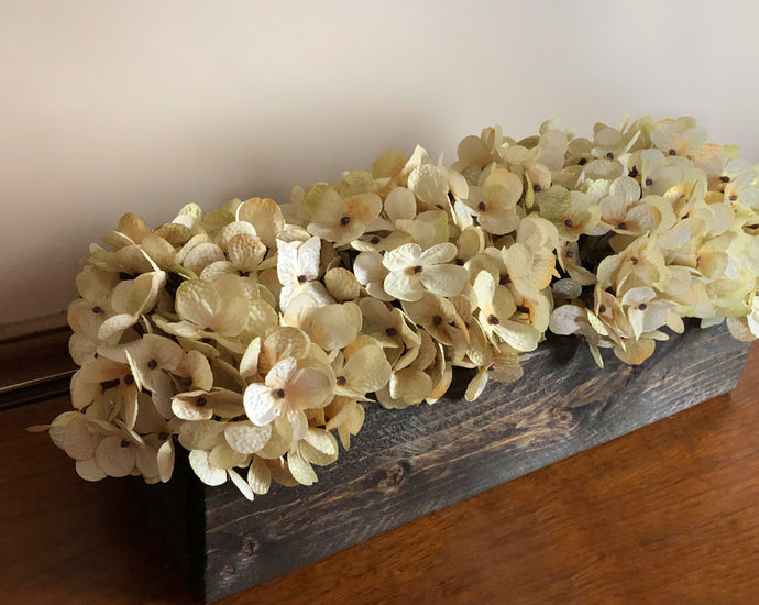 Rustic Wood Centerpiece Box