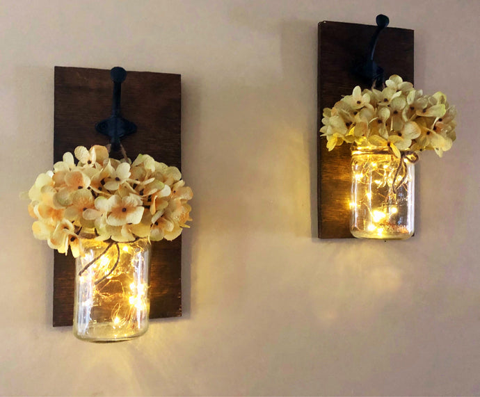 Mason Jar Sconces