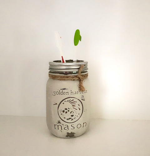 Mason Jar Toothbrush Holder - stacys-country-designs