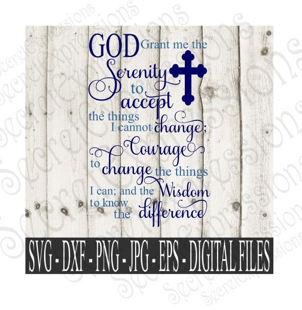 Serenity Prayer Svg, Religious bible verse, 2 Timothy 4:17 Digital File, SVG, DXF, EPS, Png, Jpg, Cricut, Silhouette, Print File