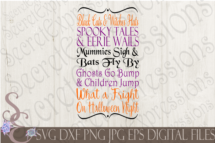 Halloween Night Subway Sign Svg, Digital File, SVG, DXF, EPS, Png, Jpg, Cricut, Silhouette, Print File