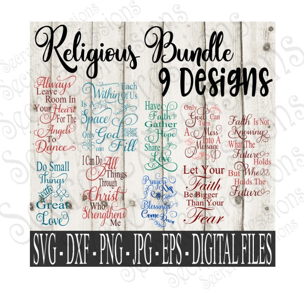 Download Religious SVG Bundle, Digital File, SVG, DXF, EPS, Png ...