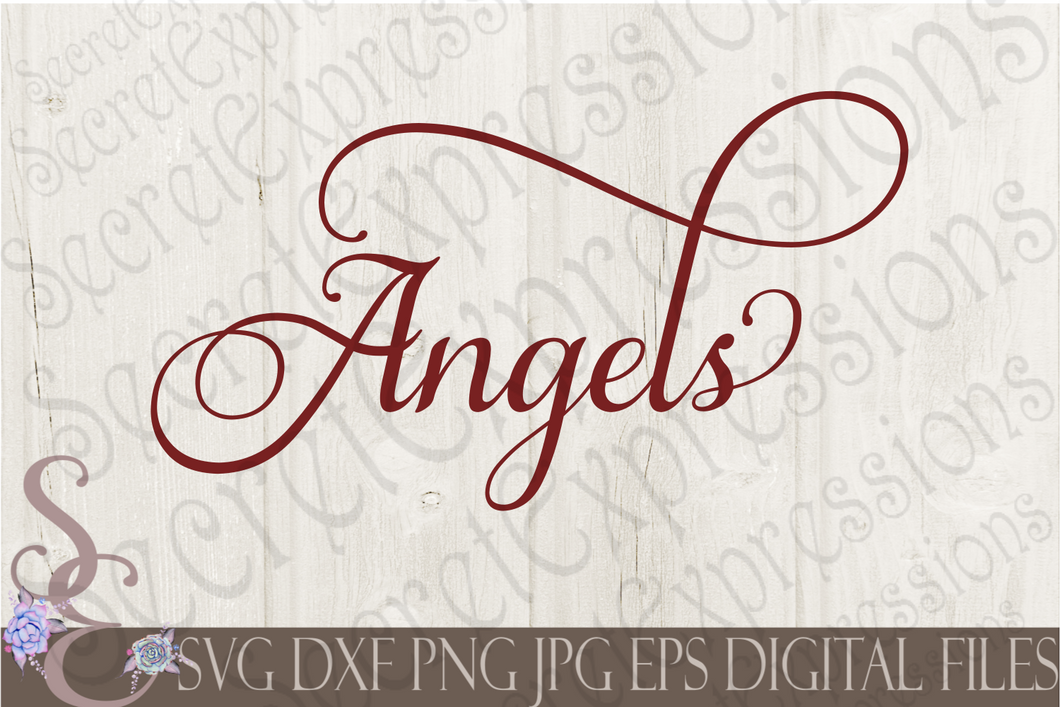 Angels Svg, Christmas Digital File, SVG, DXF, EPS, Png, Jpg, Cricut, Silhouette, Print File