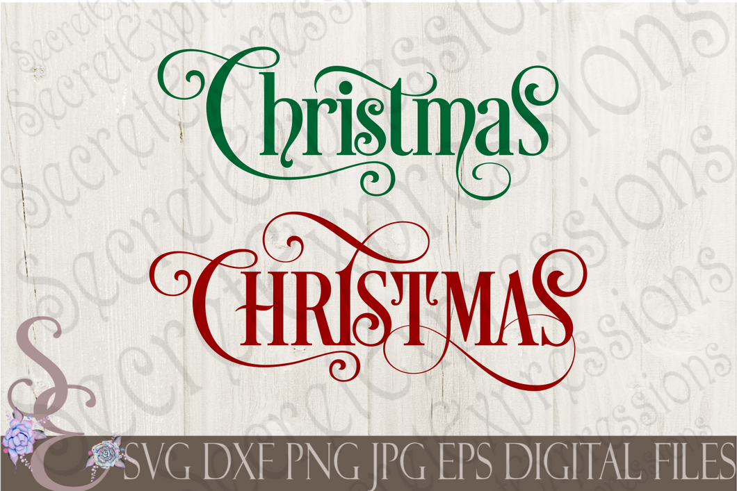 Christmas Svg, Christmas Digital File, SVG, DXF, EPS, Png, Jpg, Cricut, Silhouette, Print File