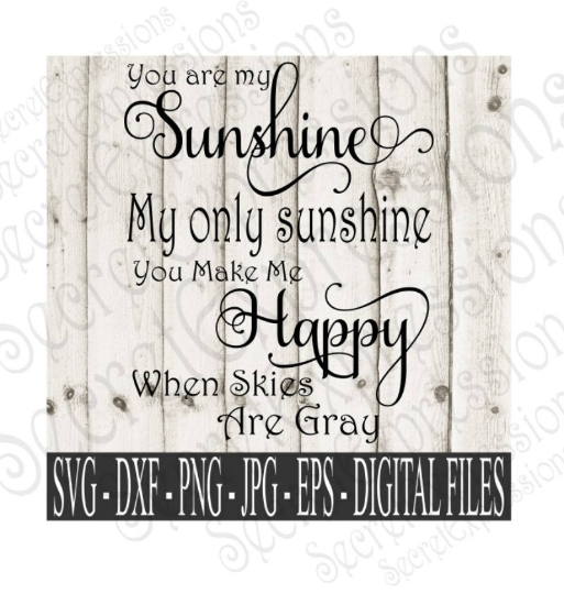 You Are My Sunshine Ends Svg, Wedding, Anniversary, Digital File, SVG, DXF, EPS, Png, Jpg, Cricut, Silhouette, Print File
