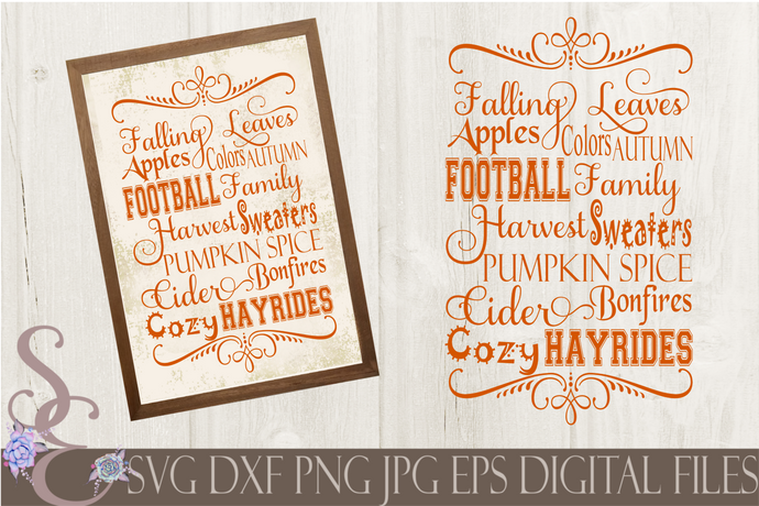 Fall Subway Svg, Digital File, SVG, DXF, EPS, Png, Jpg, Cricut, Silhouette, Print File