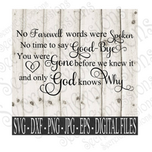 Sympathy SVG Bundle, Memorial Set Digital File, SVG, DXF, EPS, Png, Jpg, Cricut, Silhouette, Print File