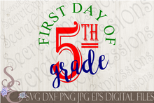 Back To School SVG Bundle, First Day of School Digital File, SVG, DXF, EPS, Png, Jpg, Cricut, Silhouette, Print File