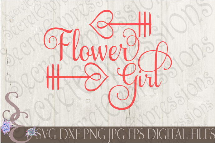 Flower Girl Svg, Wedding, Digital File, SVG, DXF, EPS, Png, Jpg, Cricut, Silhouette, Print File