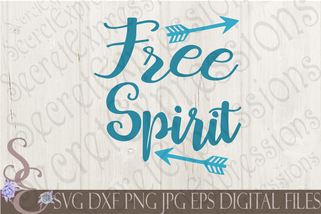 Free Spirit Svg, Digital File, SVG, DXF, EPS, Png, Jpg, Cricut, Silhouette, Print File
