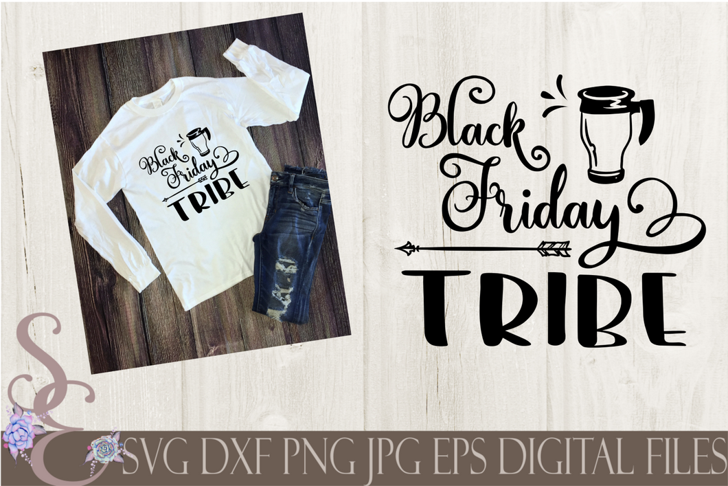 Black Friday Tribe Svg, Digital File, SVG, DXF, EPS, Png, Jpg, Cricut, Silhouette, Print File
