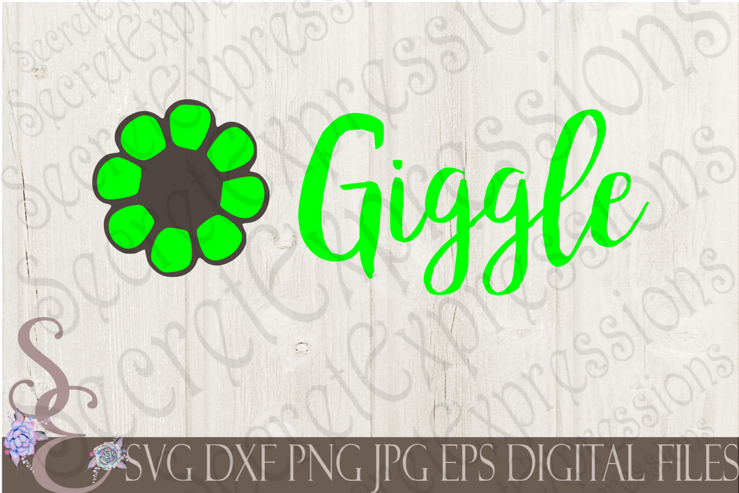 Giggle Svg, Digital File, SVG, DXF, EPS, Png, Jpg, Cricut, Silhouette, Print File