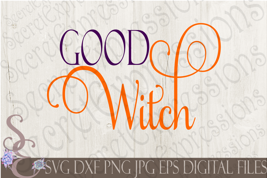 Good Witch Svg, Digital File, SVG, DXF, EPS, Png, Jpg, Cricut, Silhouette, Print File