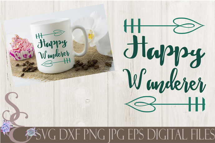 Happy Wanderer Svg, Digital File, SVG, DXF, EPS, Png, Jpg, Cricut, Silhouette, Print File