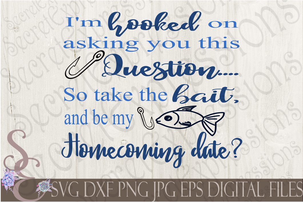 Homecoming Take the Bait Svg, Digital File, SVG, DXF, EPS, Png, Jpg, Cricut, Silhouette, Print File