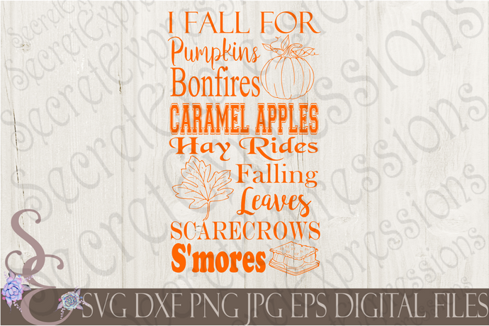 I Fall For Pumpkin Fall Subwary Svg, Digital File, SVG, DXF, EPS, Png, Jpg, Cricut, Silhouette, Print File