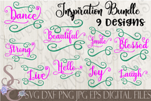 Inspirational SVG Bundle, Digital File, SVG, DXF, EPS, Png, Jpg, Cricut, Silhouette, Print File